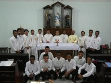 Admission of 11 new seminarians to the seminary preparatory year (SPY).