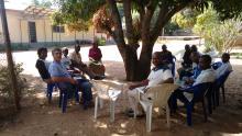 Pe. José Alceu e Pe. Reginaldo junto com o Conselho Pastoral da Área Pastoral do Cafunfo.