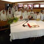 Celebrazione in suffragio di P. Aveni e lavori in aula