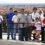 In cima alla torre pendente di Pisa.  Il panorama è meraviglioso!