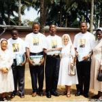 I primi quattro seminaristi con le consorelle FDZ.